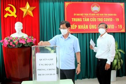 Mặt trận tỉnh Khánh Hòa phát động đợt cao điểm ủng hộ phòng, chống dịch Covid-19