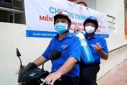 """Những """"ATM - oxy"""" mang theo thông điệp """"Trao oxy – nối dài sự sống"""" ở thành phố Hồ Chí Minh"""