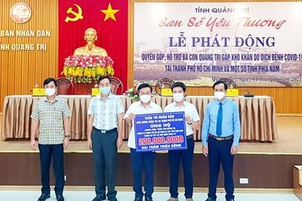 """Quảng Trị """"san sẻ yêu thương"""" với người dân các tỉnh phía Nam"""