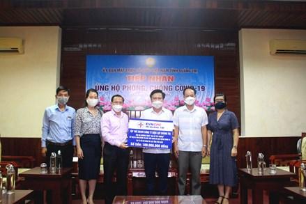 Tiếp nhận kinh phí ủng hộ người dân Quảng Trị gặp khó khăn tại Thành phố Hồ Chí Minh và một số tỉnh phía Nam