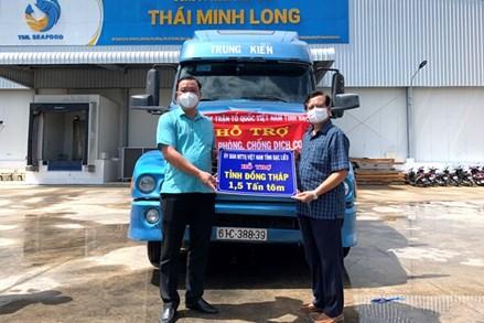 Bạc Liêu hỗ trợ 10 tấn tôm cho các địa phương vùng dịch