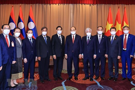 Những hoạt động của Chủ tịch nước Nguyễn Xuân Phúc và đoàn đại biểu cấp cao tại CHDCND Lào trong ngày 9/8