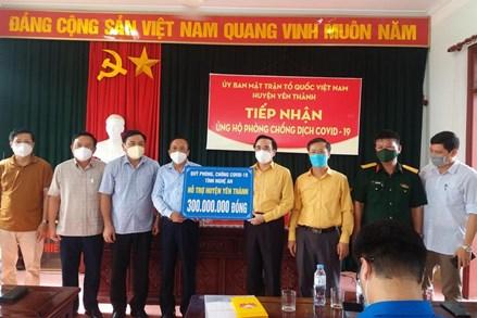 Nghệ An: Hơn 300 triệu đồng hỗ trợ huyện Yên Thành phòng, chống dịch COVID-19