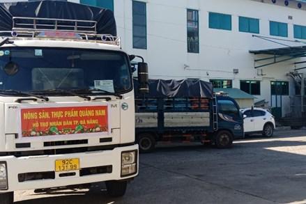 Quảng Nam hỗ trợ Nhân dân quận Sơn Trà, thành phố Đà Nẵng trên 20 tấn nông sản, thực phẩm