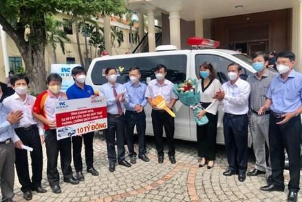 Khánh Hòa tiếp nhận nhiều trang thiết bị y tế hỗ trợ tỉnh phòng, chống dịch