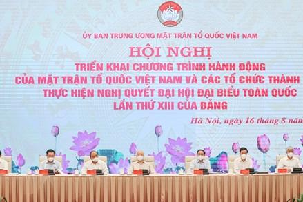 Quyết tâm thực hiện thắng lợi Chương trình hành động của MTTQ Việt Nam và các tổ chức thành viên