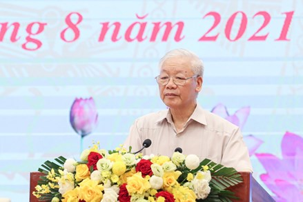 Tổng Bí thư Nguyễn Phú Trọng: Phát huy truyền thống đại đoàn kết, huy động sức mạnh của toàn dân tộc, nỗ lực phấn đấu thực hiện thắng lợi toàn diện nghị quyết Đại hội toàn quốc lần thứ XIII của Đảng
