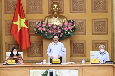 Thủ tướng Chính phủ làm việc với lãnh đạo Ban Dân vận và UBTƯ MTTQ Việt Nam