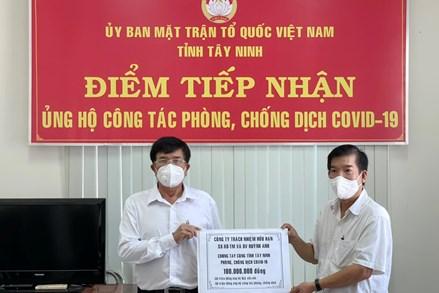 Tây Ninh: Trên 34 tỷ đồng ủng hộ công tác phòng chống dịch Covid-19
