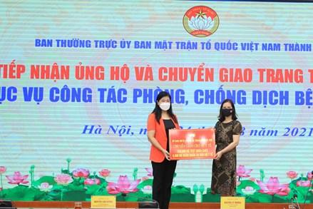 MTTQ Việt Nam TP Hà Nội chuyển giao 50 máy thở cho Đại học Y Hà Nội