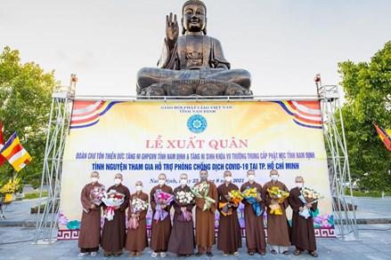 Lễ xuất quân đợt 2 của chư Tăng tỉnh Nam Định ra tuyến đầu chống dịch
