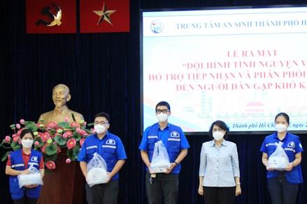 """TPHCM: Ra mắt """"Đội Shipper tình nguyện"""" hỗ trợ tiếp nhận và phân phối hàng hoá đến người dân gặp khó khăn"""