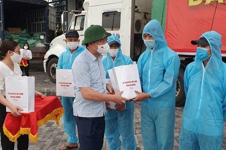 Hải Dương: Xuất quân vận chuyển 160 tấn gạo ủng hộ đồng bào miền Nam chống dịch
