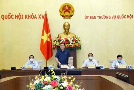 Chủ tịch Quốc hội nghe báo cáo về việc chuẩn bị giám sát trong năm 2022