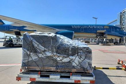 Thêm 180.000 bộ kit xét nghiệm Covid-19 do Đức trao tặng về đến Việt Nam