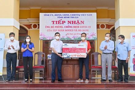 Ủy ban MTTQ tỉnh Bình Thuận tiếp nhận trên 53 tỷ đồng ủng hộ công tác phòng, chống dịch