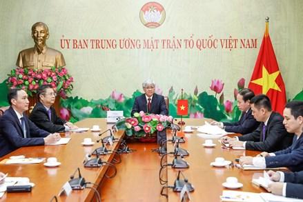 Chủ tịch UBTƯ MTTQ Việt Nam Đỗ Văn Chiến điện đàm với Chủ tịch Chính hiệp toàn quốc Trung Quốc Uông Dương