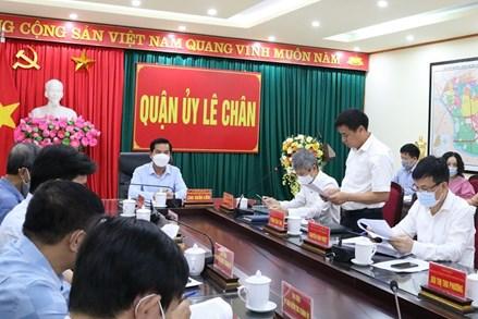 Ủy ban MTTQ Việt Nam thành phố Hải Phòng giám sát tình hình cán bộ, đảng viên tại Quận Lê Chân