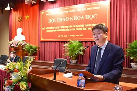 """Hội thảo khoa học quốc gia """"Phát triển, phối hợp lực lượng trong công tác bảo vệ nền tảng tư tưởng của Đảng, đấu tranh phản bác các quan điểm sai trái, thù địch ở Việt Nam hiện nay"""""""