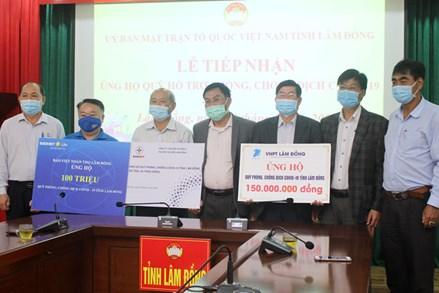 Lâm Đồng: Các doanh nghiệp tiếp tục ủng hộ công tác phòng, chống dịch Covid-19
