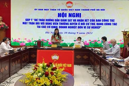 Nêu cao vai trò của Mặt trận Tổ quốc Việt Nam trong giám sát đảng viên nơi cư trú