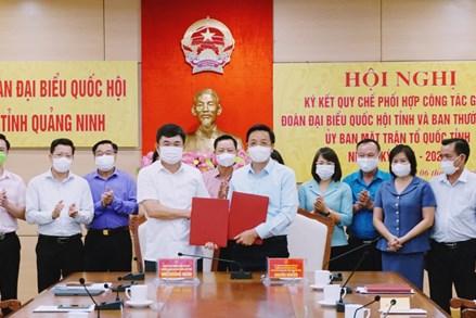 Quảng Ninh: Đoàn ĐBQH tỉnh và Ban Thường trực Ủy ban MTTQ Việt Nam tỉnh ký kết quy chế phối hợp