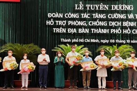 Tuyên dương 170 tập thể, cá nhân lực lượng y tế hỗ trợ TP Hồ Chí Minh chống dịch