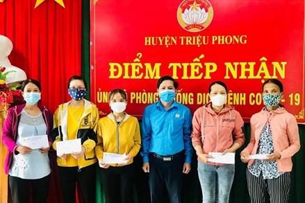 Chi gói hỗ trợ cho người lao động về từ các tỉnh miền Nam