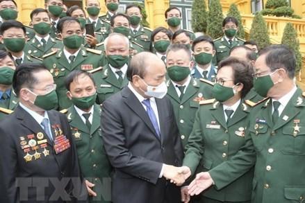 Chủ tịch nước gặp gỡ đại biểu Hiệp hội Doanh nhân Cựu chiến binh Việt Nam