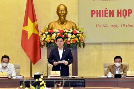 Chủ tịch Quốc hội Vương Đình Huệ chủ trì họp Ban chỉ đạo các chuyên đề về chiến lược xây dựng và hoàn thiện nhà nước pháp quyền xã hội chủ nghĩa