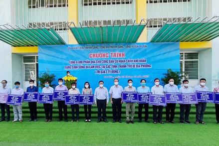 An Giang: 6.000 phần quà hỗ trợ người dân ngoài tỉnh về huyện Tri Tôn