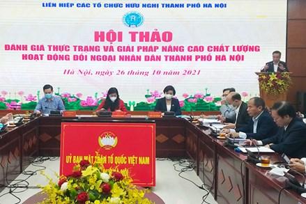 Đổi mới, nâng cao hoạt động đối ngoại Nhân dân, phát huy sức mạnh mềm phát triển Thủ đô
