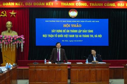 Lưu giữ giá trị lịch sử của Mặt trận Tổ quốc Việt Nam