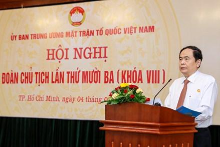Khai mạc Hội nghị Đoàn Chủ tịch Ủy ban Trung ương MTTQ Việt Nam lần thứ mười ba