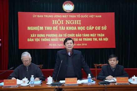 Xây dựng phương án tổ chức Bảo tàng của Mặt trận Tổ quốc Việt Nam