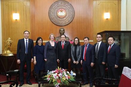 Chủ tịch Trần Thanh Mẫn tiếp Đại sứ New Zealand