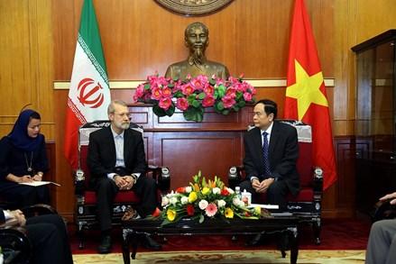 Chủ tịch Trần Thanh Mẫn tiếp Chủ tịch Quốc hội nước Cộng hòa Hồi giáo Iran