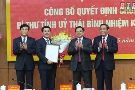 Trao quyết định chuẩn y Bí thư Tỉnh uỷ Thái Bình nhiệm kỳ 2015 - 2020