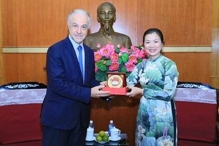 Phó Chủ tịch Trương Thị Ngọc Ánh tiếp đại diện Hội đồng Kinh tế, Xã hội và Môi trường Pháp  