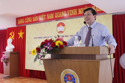 Khai mạc lớp bồi dưỡng nghiệp vụ công tác Mặt trận 2018 các tỉnh phía Nam