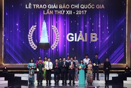 105 tác phẩm đoạt Giải Báo chí Quốc gia lần thứ 12 năm 2017