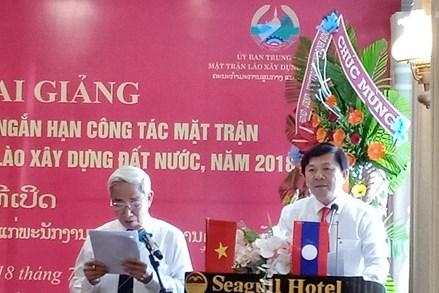 Khai giảng Khóa đào tạo, bồi dưỡng ngắn hạn công tác Mặt trận cho cán bộ Mặt trận Lào
