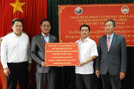 Đoàn cán bộ Mặt trận Lào Xây dựng đất nước khảo sát thực tế tại tỉnh Gia Lai