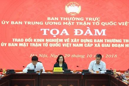 Tìm giải pháp xây dựng Ban Thường trực Ủy ban MTTQ Việt Nam cấp xã