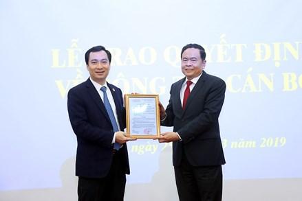 Ông Vũ Văn Tiến giữ chức Trưởng Ban Tuyên giáo UBTƯ MTTQ Việt Nam