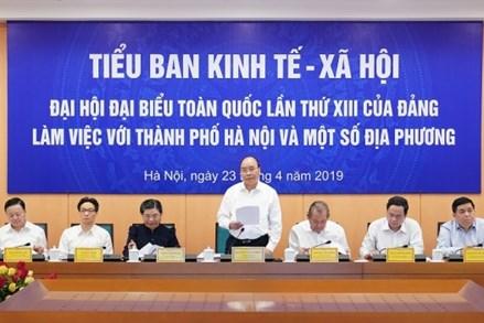Hà Nội và 12 tỉnh, thành phố báo cáo phục vụ xây dựng văn kiện Đại hội XIII của Đảng