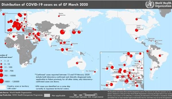 Covid-19 tấn công hơn 100 nước, vùng lãnh thổ