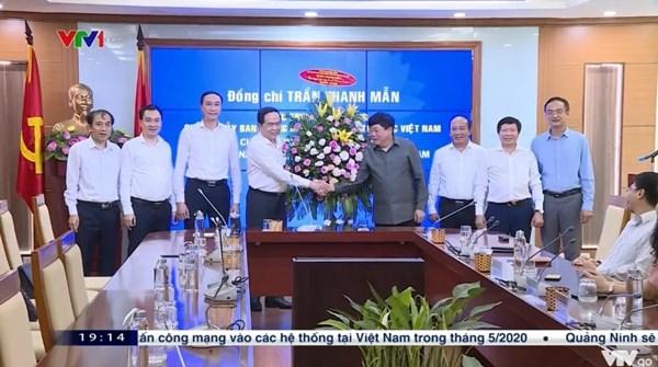 Chủ tịch Trần Thanh Mẫn thăm và chúc mừng một số cơ quan báo chí nhân dịp kỷ niệm 95 năm Ngày Báo chí cách mạng Việt Nam