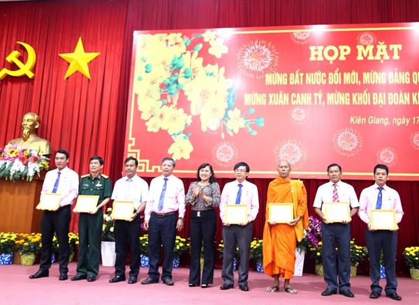 Mặt trận Kiên Giang gặp mặt nhân sĩ trí thức, chức sắc tôn giáo