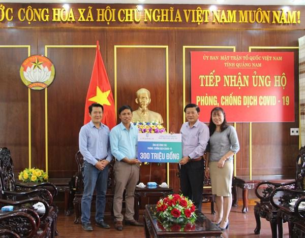 Quảng Nam: Tiếp nhận 300 triệu đồng ủng hộ phòng chống dịch bệnh Covid-19